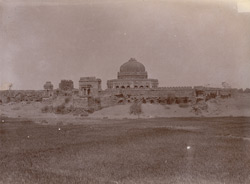 Distant view of Sikander Lodi's Tomb, Delhi.